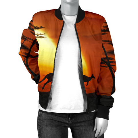 Australia Womens Bomber Jacket Kangaroo Sunset TH1