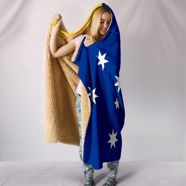 1stAustralia Hooded Blanket - Southern Cross Australia Hooded Coat Of Arms Blanket - Bn14