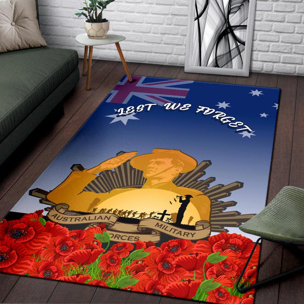 1stAustralia Area Rug - Australia Anzac Day 2020 And Soldiers - BN25