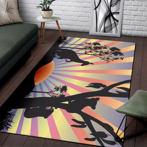 Australia Area Rug Kangaroo With Koala In The Sunset K5