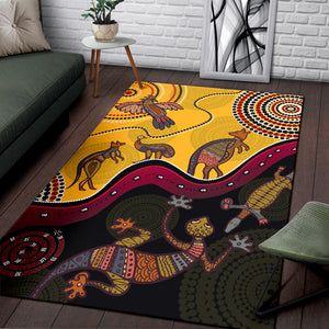 1stAustralia Aboriginal Area Rug - Indigenous Animals Life Art
