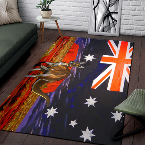 Australia Area Rug Kangaroo 01 TH1