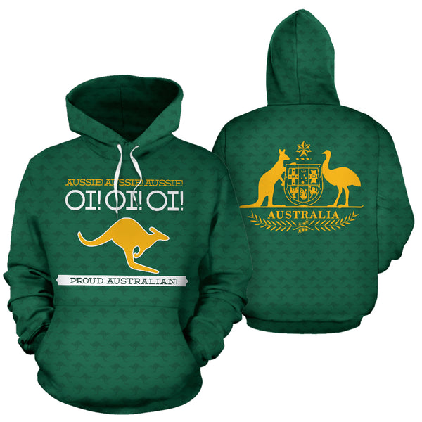 Australia Day - Proud Australian Athletic Pullover Hoodie