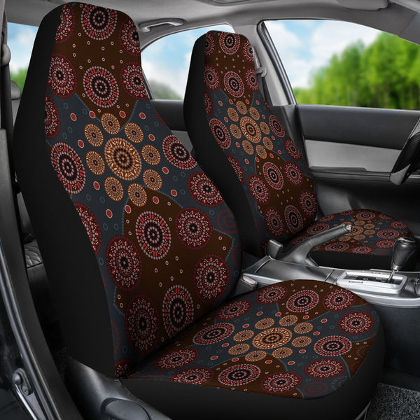 1stAustralia Car Seat Covers - Aboriginal Dot Painting Seat Covers - Nn0