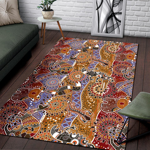 Australia Area Rug Australia Pattern Animals TH1