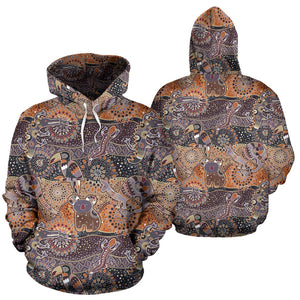 Australia Aboriginal Hoodie - Front and Back for Men and Women