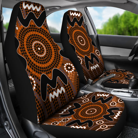 Image of Australia Aboriginal Pattern Car Seat Covers