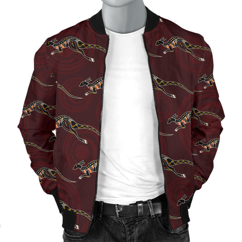Australia Mens Bomber Jacket Aboriginal Kangaroo TH1