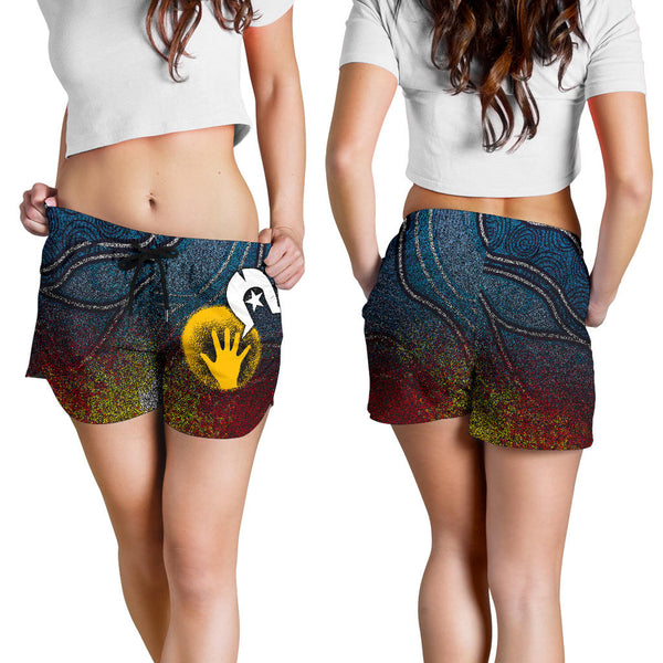 1stAustralia Aboriginal Women's Shorts - Aboriginal and Torres Strait Islanders Flag