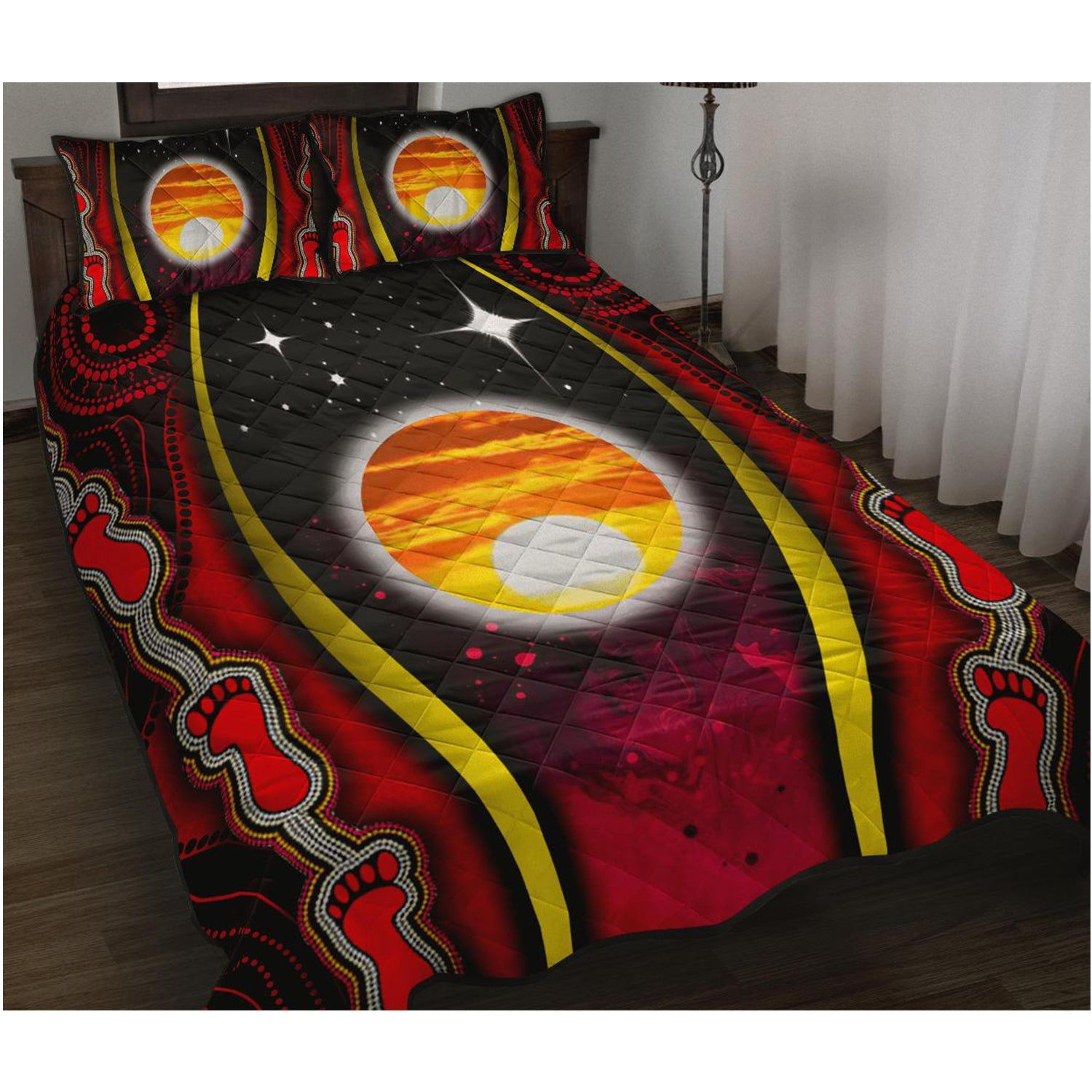 1sAustralia Quilt Bed Set - Australian Aboriginal Flags Symbolic Meaning - BN19