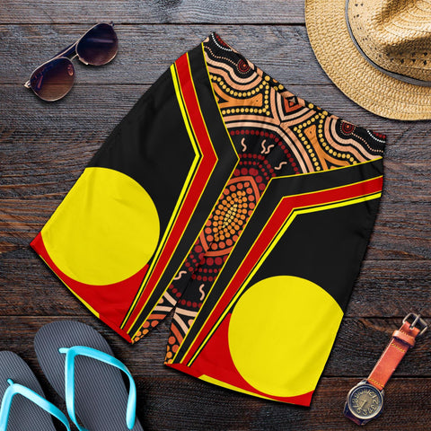 1stAustralia Men's Shorts - Aboriginal With Dot Painting Art - BN17