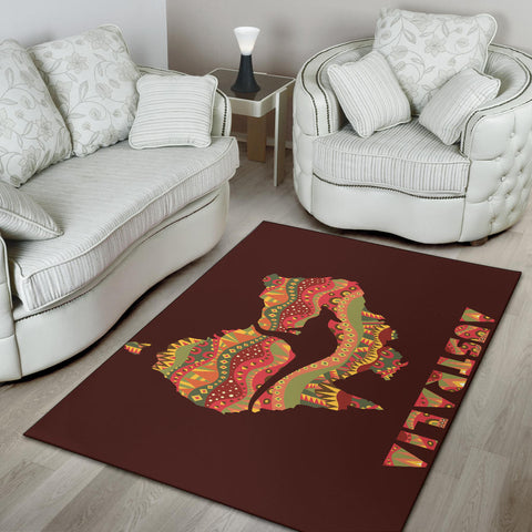 Australia Area Rug Kangaroo In Map With Australia Pattern Pattern TH1
