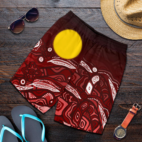 1stAustralia Aboriginal Men's Shorts - Red Landscape