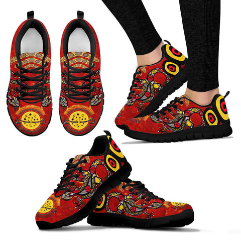 1stAustralia  Aboriginal Sneakers, Lizard And Boomerang Pattern - BN17