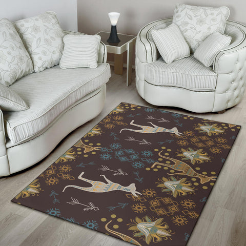 Australia Area Rug Bohemian Kangaroo Pattern And Tribal Ornaments TH1