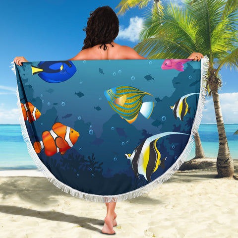 Image of Australia Fishes Beach Blanket TH1