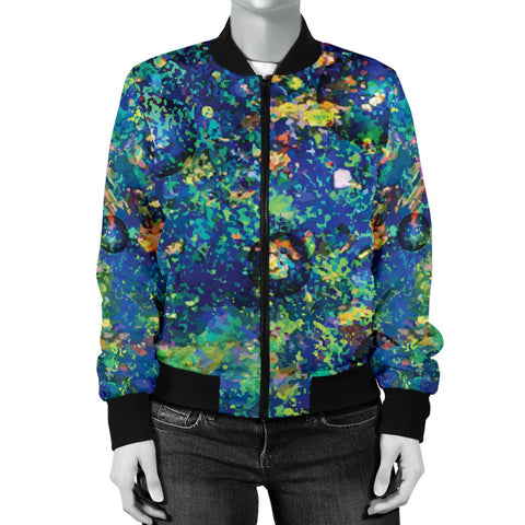 Australia Womens Bomber Jacket Opal Gemstone TH51