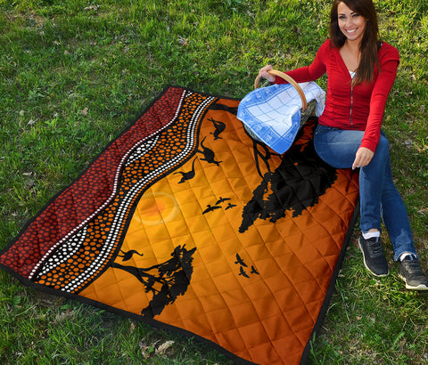 Australia Premium Quilt Australia Pattern Sunset TH1