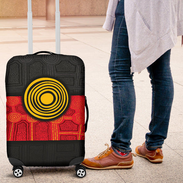 1stAustralia Aboriginal Luggage Covers - Aussie Indigenous Flag