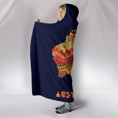 Australia Aboriginal Map Hooded Blanket 2 TH1