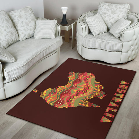 Australia Area Rug Map With Australia Pattern Pattern TH1