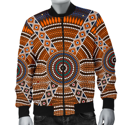 Australia Mens Bomber Jacket Aboriginal 01 TH1