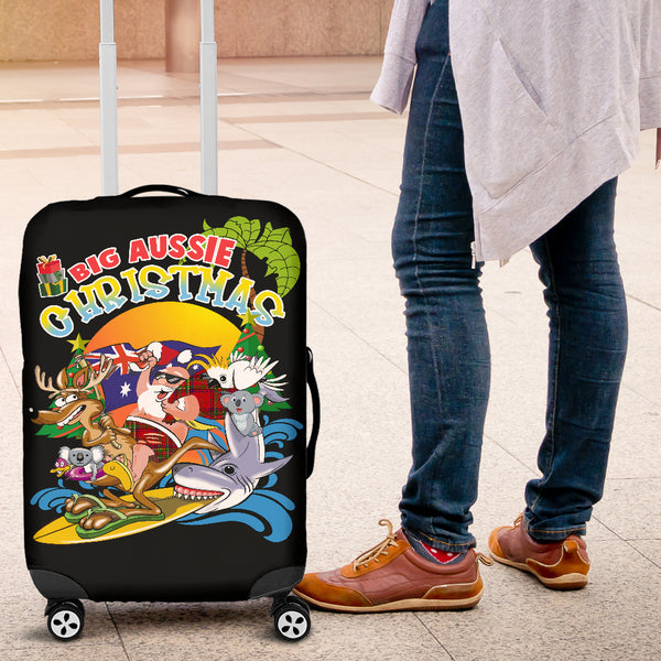1stAustralia Christmas Luggage Cover - Santa Claus Suitcase - Nn0