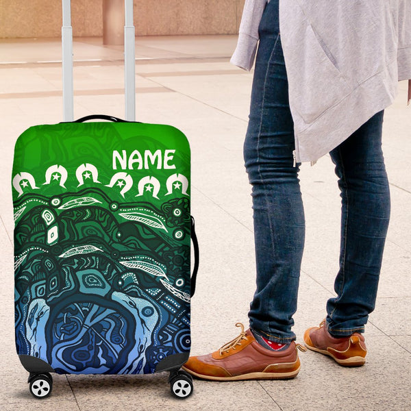 [Custom] 1stAustralia Torres Strait Islands Luggage Cover - Blue Ocean