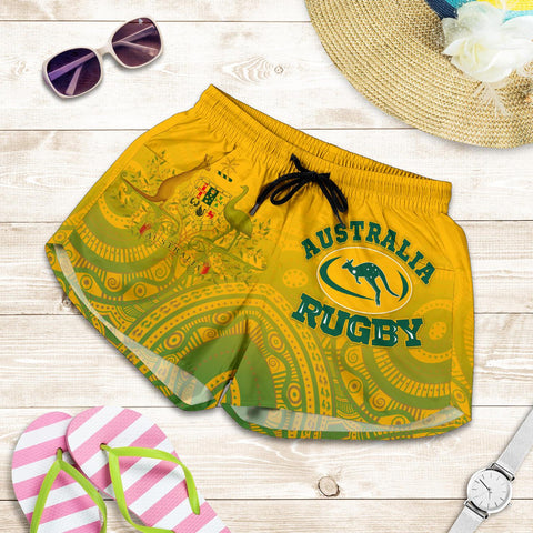 1stAustralia Aboriginal Women's Shorts, Australia Rugby and Coat Of Arms