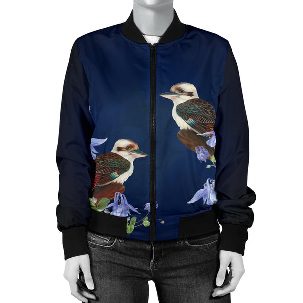1stAustralia Bomber Jacket - Kookaburra Jacket Royal Bluebell - Women - Nn0
