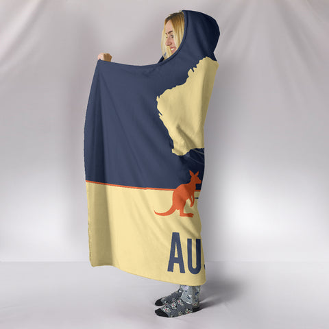 Image of Australia Hooded Blanket Tree Map TH1