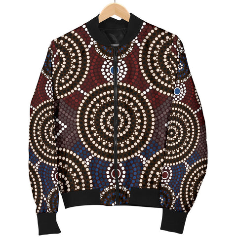 Australia Mens Bomber Jacket Aboriginal 07 TH1