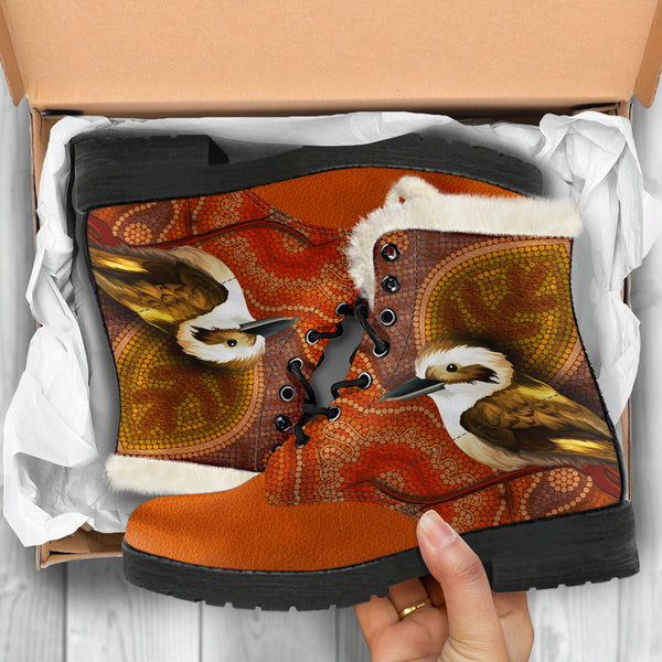 Kookaburra Boots Faux Fur Leather