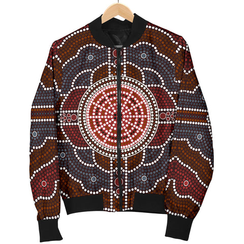 Australia Mens Bomber Jacket Aboriginal 03 TH1