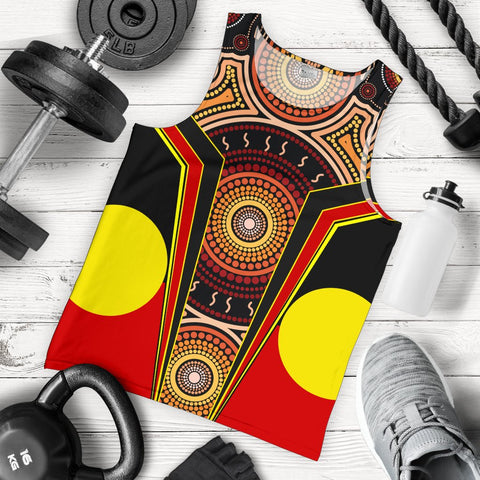 1stAustralia Men's Tank Top - Aboriginal With Dot Painting Art - BN17