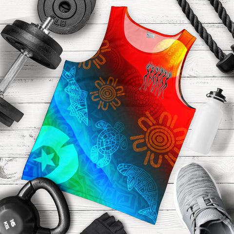 1stAustralia Naidoc Men's Tank Top - Proud To Be