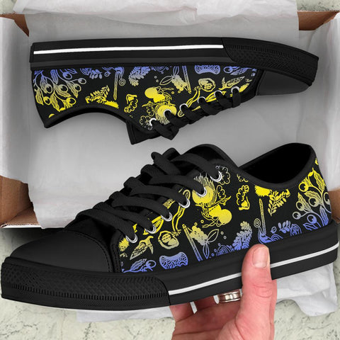 1stAustralia Low Top Shoes - Australian Aboriginal Golden Wattle