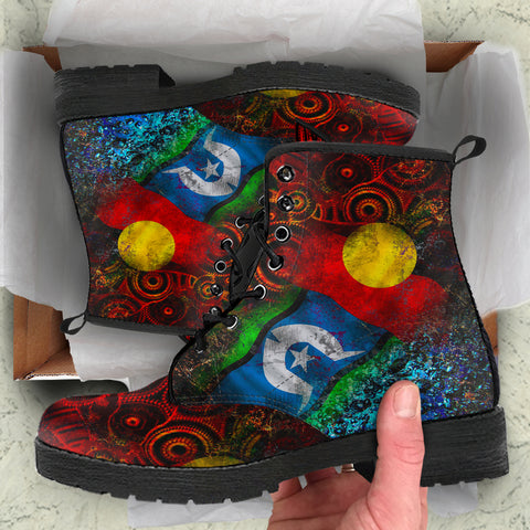 1stAustralia Leather Boots - Always Was, Always Will Be Naidoc Week 2020