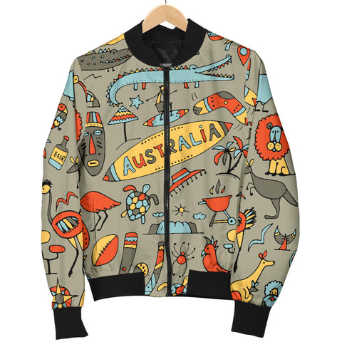 Australia Mens Bomber Jacket Symbols TH1