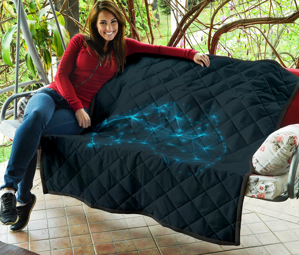 1stAustralia Premium Quilts - Australia Map Coverlets Glowing - Th1