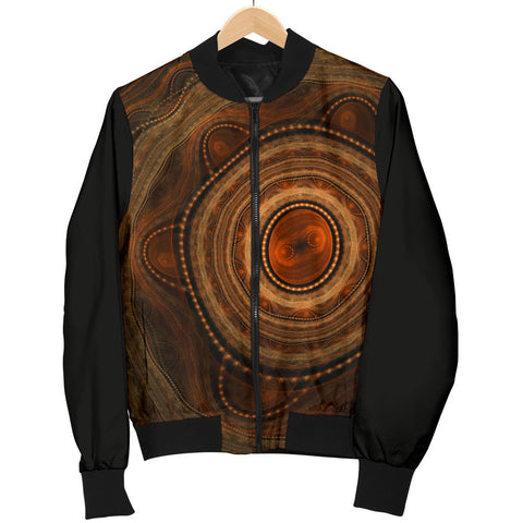 Australia Mens Bomber Jacket Aboriginal 08 TH1