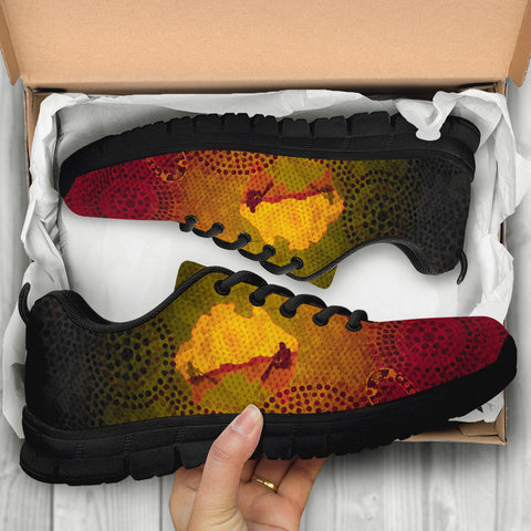 1stAustralia Aboriginal Sneakers, Australian Map with  Indigenous Color