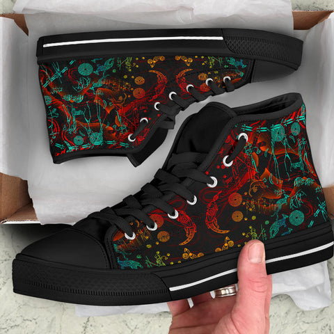 1stAustralia High Top Shoes, Kangaroo Adults Indigenous Art