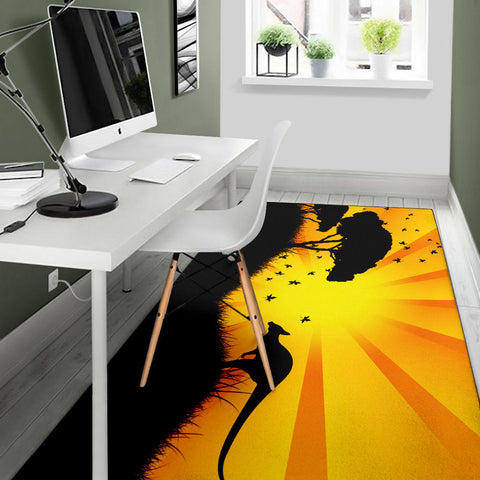 Australia Area Rug Kangaroo In The Sunset TH1