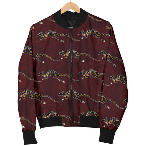Australia Womens Bomber Jacket Aboriginal Kangaroo TH1