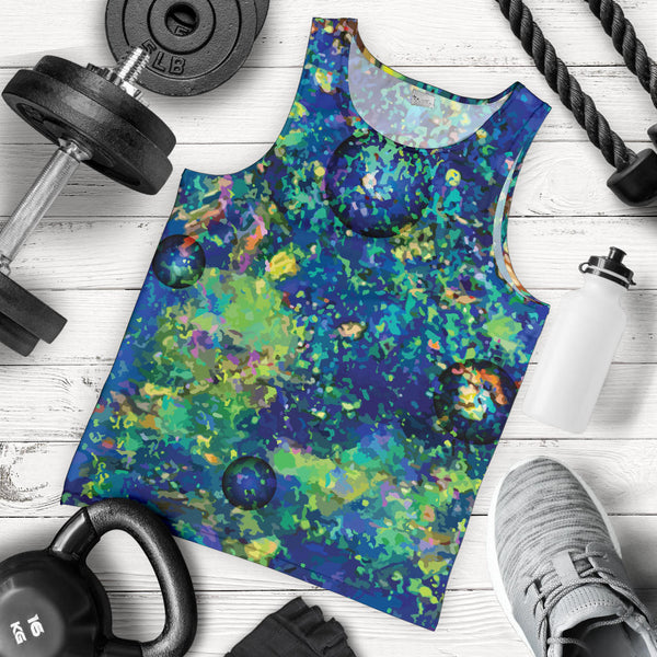 1stAustralia Men Tank Top - Opal Gemstone Mens Tank Color Art - Th51