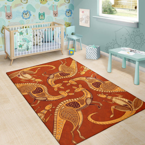 Image of Australia Area Rug Australia Pattern Kangaroo 05 TH1