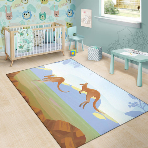 Australia Area Rug Kangaroo 05 TH1