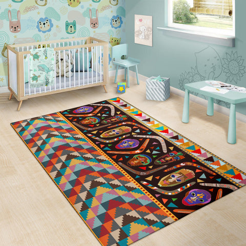 Australia Area Rug Australia Pattern Boomerangs With Masks TH1