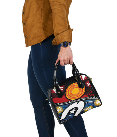 1stAustralia Shoulder Handbag - Australian NAIDOC Aboriginal and Torres Strait Island Flags - Bn19